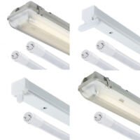 T8 LED Ready Batten Fittings Single, Twin & IP65 2ft 4ft 5ft 6ft - 4000k / 6000k