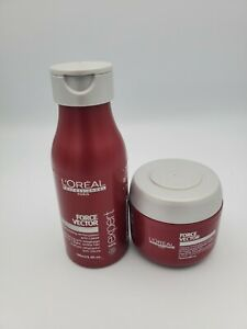 L'OREAL Professional Force Vector Glycocell Shampoo 3.4oz & Masque 2.55oz