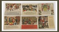 Vintage Christmas Postcard Lot - 1940-50's -Beautiful Designs - 6 Pieces  (W903)