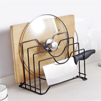 Kitchen Tool Storage Cutting Chopping Board Rack Pot Lid Pan Cover Holder