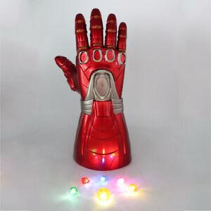 Iron Man LED Gloves Thanos Infinity Gauntlet Avengers Endgame Stone Removable