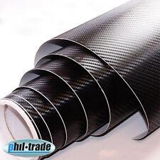Carbonfolie schwarz 0,3 x 1,5m Carbon Look Wrapping Folie 3D Struktur blasenfrei