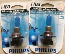 PHILIPS HB3 DIAMOND VISION HB3 POWER HEADLIGHT CAR BULBS HB3DIAMOND VISION 5000k