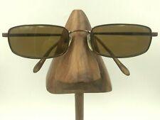 Bulgari 137 142 Bronze Metal Rectangle Sunglasses Eyeglasses Frames Italy