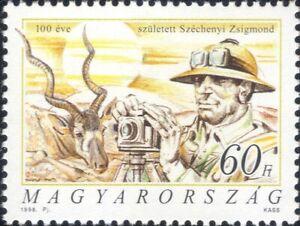 Hungary 1998 Zsigmond Szechenyi/Writer/Hunter/Camera/Addax Antelope 1v (hx1122)