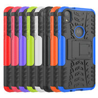 For Motorola Moto E6 Hybrid Shockproof Rugged Rugged Stand Protective Case Cover