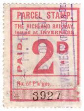 (I.B) The Highland Railway : Parcel Stamp 2d (Inverness)