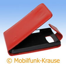 Flip Case Etui Handytasche Tasche Hülle f. HTC HD 2 (Rot)