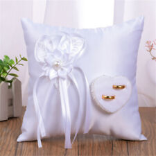 Polyester Heart Wedding Ring Pillow Case Sofa Waist Cushion Pillow Wedding Decor