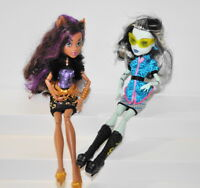 Monster High Scaris Clawdeen Wolf & Frankie stein Doll Lot of 2 Dolls