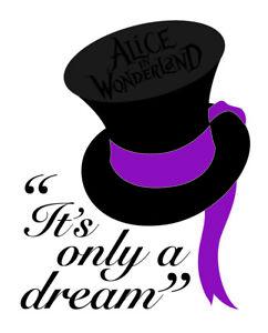 Alice in Wonderland (Dream) Typography Decorative Vinyl Wall Decal Sticker