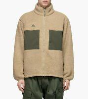 Nike ACG Microfleece Mens Jacket Green Size S Casual Fleece Hoodie Full Zip
