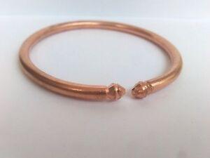 Pure copper cratched Rounded Bracelet Cuff Kada Kadaa - Men Women - Fashion