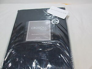 NEW Croscill Home Euro European Pillow Sham HANNAH 26x26 Dark Blue (Navy) NIP