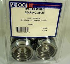 "Sea-Dog  Trailer Pair Wheel Bearing Mate 758110-1 304 s.s. chrome plated 2.328"""