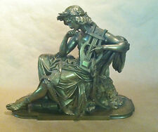 """BRONZE STATUE OF ORPHEUS BY A. CARRIER 15"""" LENGTH- PRICE REDUCTION"""