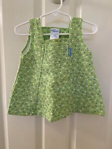 Baby Oshkosh B'gosh Vintage Green Floral Dress Girls Size 12 Months