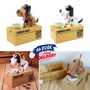 Money Box Bank Coin Saving Robotic Piggy Mechanical Hungry Eating Dog Choken