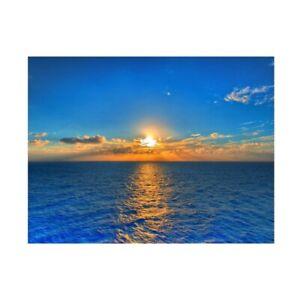Blue Sea Beach Scene Background Cloth Studio Photography Backdrop 5x3ft 7x5ft