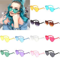 2pcs Women Love Heart Sunglasses Beach Casual Fashion Retro Glasses Eyeglasses