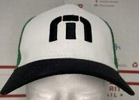 Travis Mathew Trucker Snapback Hat OS Promo 2016 Adjustable Cap White & Green