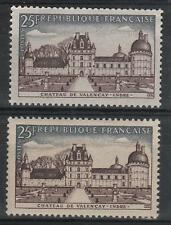 "FRANCE STAMP TIMBRE 1128 "" CHATEAU VALENCAY 10F VARIETE COULEUR""NEUFxx SUP  M338"