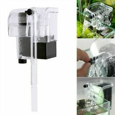Aquarium Fish Tank Waterfall Filter Pump Hang On Back Pump External Filtration