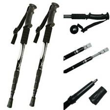 Pair Trekking Walking Hiking Sticks Poles Telescopic Adjustable Anti-shock 2pcs