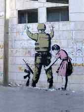 Banksy Soldier Searched By Beth A4 Sign Aluminium Metal