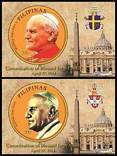 2014 Canonizzazione dei Papi - Filippine - foglietti speciali