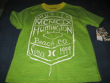 BOYS HURLEY T SHIRT SIZE 5  GREEN/YELLOW  NWT  MSRP $28