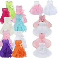 Toddler Baby Girls Dress Sleeveless Princess Birthday Party Clothes Sundress