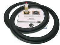 "Standard 15"" Speaker Foam Surround Repair Kit - Angle-attach Universal - 2A15-m2"