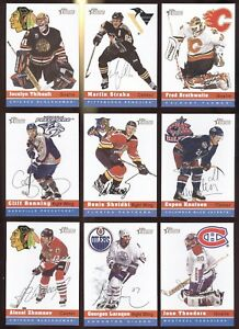 2000-01 TOPPS HERITAGE HEROES NEW TRADITION NHL HOCKEY CARD 154 TO 247 SEE LIST