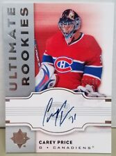 2007-08 Ultimate Collection Carey Price Auto RC #77/99
