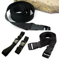 Black Small Travel Luggage Straps Short Adjustable Suitcase Belt Buckle Holder