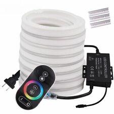 RGB Neon Flexible LED Light Strip Tube Rope Remote Controller EU US UK Plug IP67