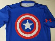 Under Armour Marvel Captain America Small S/S Compression Workout T Shirt
