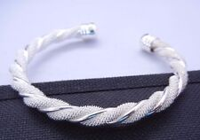 SILVER PLATED  MESH WIRE CUFF BRACELET NEW! SHIPS FREE!
