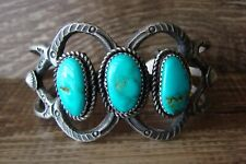 Navajo Indian Jewelry  Turquoise Bracelet by Eva and Linberg Billah