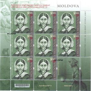 Moldova 2020 Full Sheet Personalities who changed  history Florence Nightingale