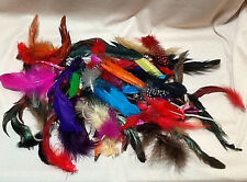 CRAFTING FEATHERS, NICE ASSORTMENT, 70 FEATHERS IN ASSORTED SIZES