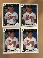 4x Lot Mike Mussina 1991 Upper Deck RC Rookie Prospect #65 Orioles Yankees HOF
