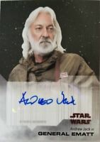 Andrew Jack - General Ematt Signed Star Wars Trading Card 21-A Topps