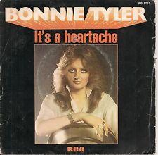"45 TOURS / 7"" SINGLE--BONNIE TYLER--IT'S A HEARTACHE / I'VE GOT SO USED TO...-77"