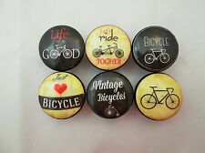 Set of 6 Vintage Bicycle  Cabinet Knobs Drawer Knobs Bike