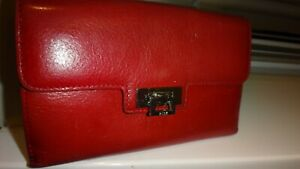 RI2K Red Leather Wallet Purse