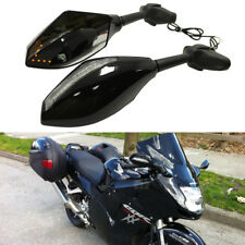Clear Black Motorcycle LED Turn Signal Side Mirror For Honda CBR1100XX Blackbird