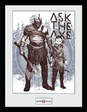 God Of War Ask The Ascia Stampa con Cornice