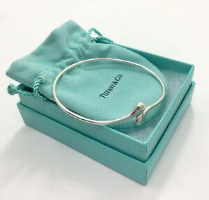 "ELSA PERETTI for TIFFANY Teardrop 925 Silver Bangle Bracelet, 7"" / 18cm RRP £595"